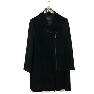 Jessica London | Black Leather/Spandex Trent Coat